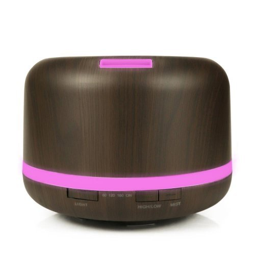 Овлажнител и ароматизатор 400 мл капацитет, без тампон, с таймер и LED светлини