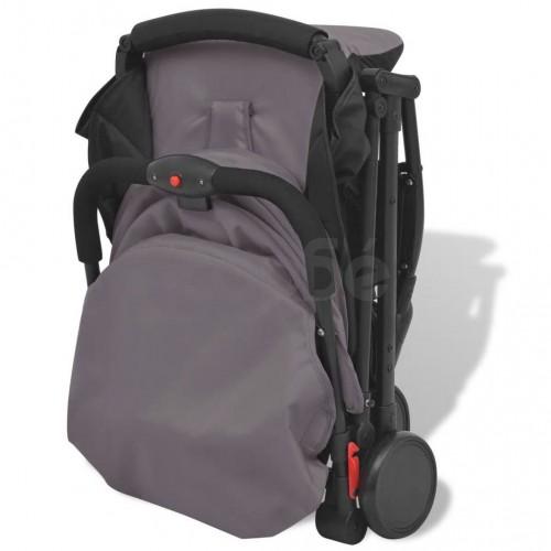Детска сгъваема количка Pocket Buggy, сива, 89x47,5x104 cм