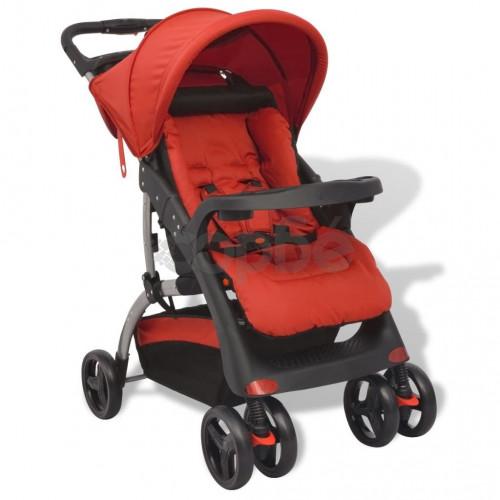 Бебешка количка тип бъги, червена, 102x52x100 см