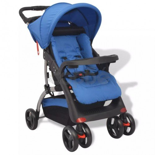 Бебешка количка, синя, 102x52x100 см