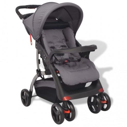 Бебешка количка, сива, 102x52x100 см