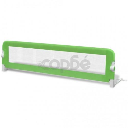 Преграда за обезопасяване на бебешко легло, 150 х 42 см, зелена