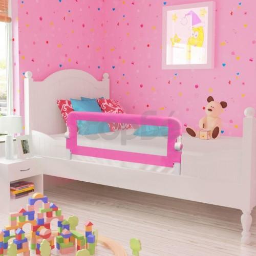 Розова преграда за обезопасяване на бебешко легло, 102 х 42 см