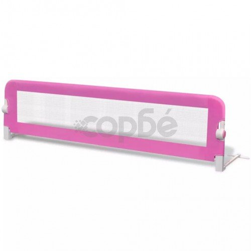 Розова преграда за обезопасяване на бебешко легло, 150 х 42 см