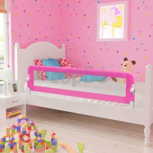 Ограничител за бебешко легло, 150x42 см, розов