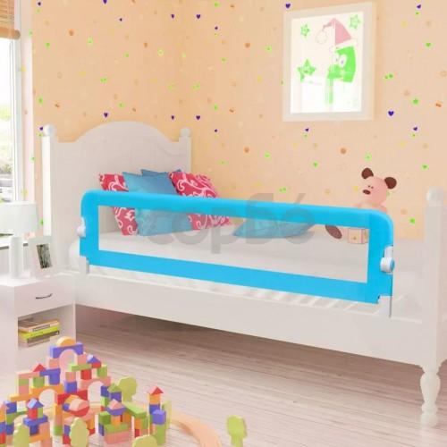 Ограничител за бебешко легло, 150 x 42 см, син