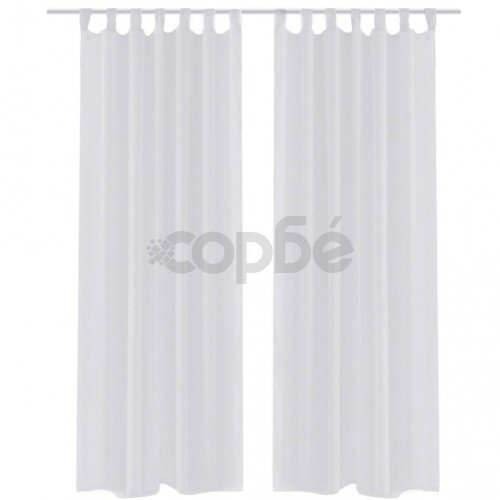 Бели прозрачни завеси 140 х 175 см – 2 броя