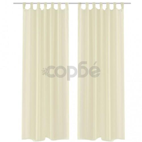 Кремави прозрачни завеси 140 х 225 см – 2 броя
