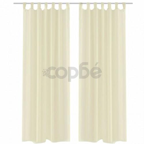 Кремави прозрачни завеси 140 х 245 см – 2 броя