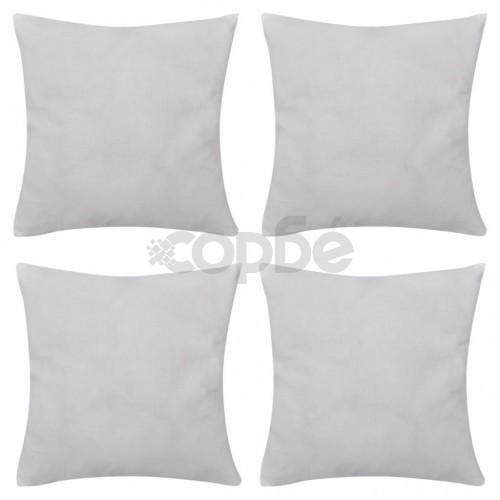 Калъфки за възглавници, 4 бр, памук, 50 x 50 см, бели
