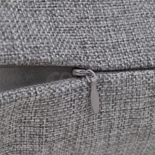 Калъфки за възглавници, 4 бр, ленен вид, 50x50 см, черни