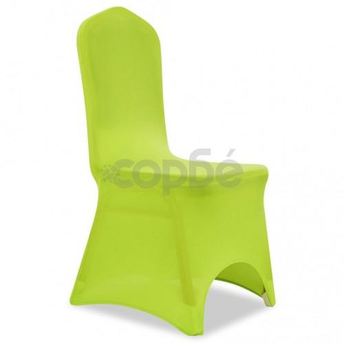 Покривни калъфи за столове, еластични, 4 бр, зелени