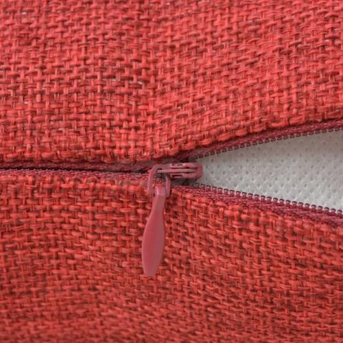 Калъфки за възглавници, 4 бр, ленен вид, бордо, 40x40 см