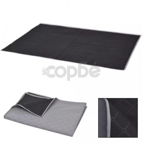 Одеяло за пикник, сиво и черно, 100x150 см