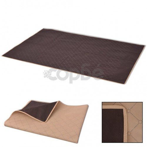 Одеяло за пикник, бежово и кафяво, 100x150 см