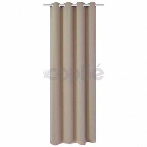 Затъмняваща завеса с метални халки, 270x245 см, кремава