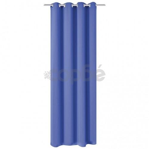 Затъмняваща завеса с метални халки, 270x245 см, синя