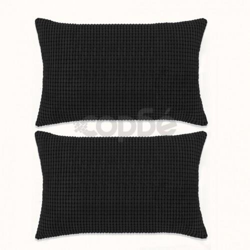 Комплект възглавници, 2 бр, велур, 40x60 см, черен