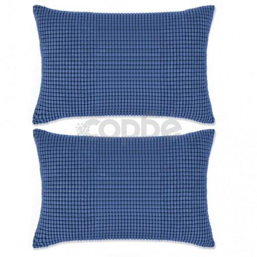 Комплект възглавници, 2 бр, велур, 40x60 см, син