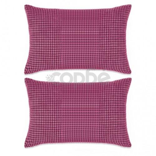 Комплект възглавници, 2 бр, велур, 40x60 см, розов