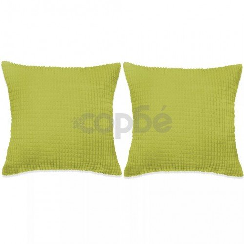 Комплект възглавници, 2 бр, велур, 45x45 см, зелен