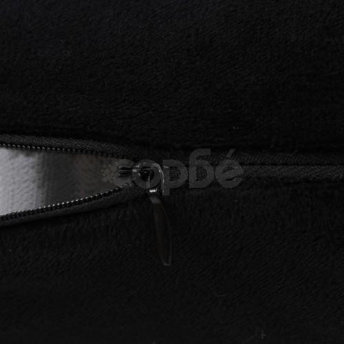 Комплект възглавници, 2 бр, велур, 40x60 см, черни