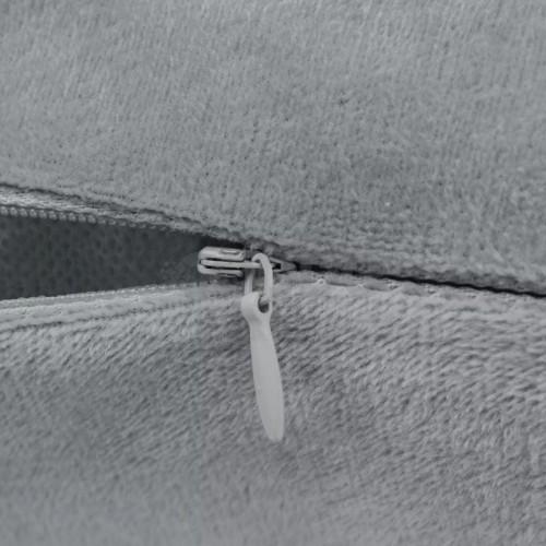 Комплект възглавници, 2 бр, велур, 40x60 см, сиви