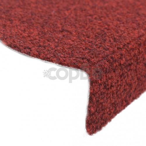 Самозалепващи стелки за стъпала, 15 бр, 65x21x4 см, червени