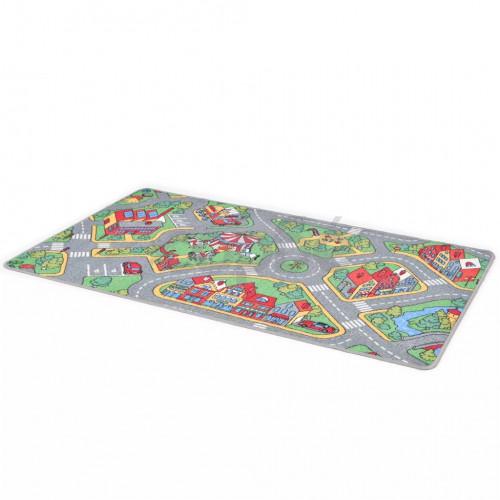 Постелка за игра от букле, 190х290 см, градски улици