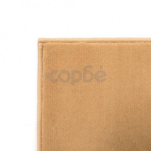 Модерен килим, дизайн на кръгове, 160x230 см, кафяв