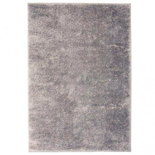 Рошав килим тип шаги, 140x200 см, сив