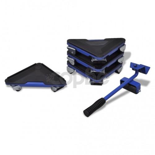Комплект за транспортиране на мебели – повдигащ лост и ъгли на колелца