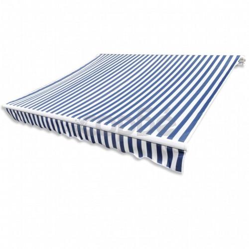 Резервно платнище за сенник, синьо и бяло, 4 х 3 м.