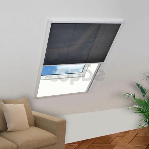 Mрежа за прозорци срещу насекоми, плисирана, 160 x 110 см