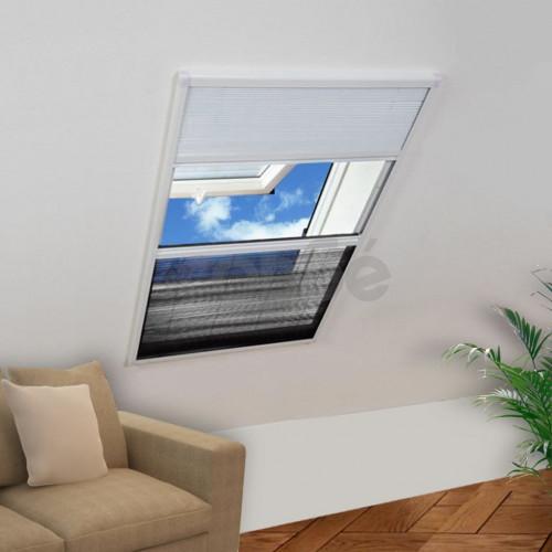 Mрежа за прозорци срещу насекоми със сенник, плисе, 160x80см
