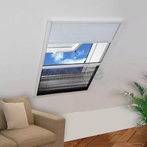 Mрежа за прозорци срещу насекоми със сенник, плисе, 160x110см