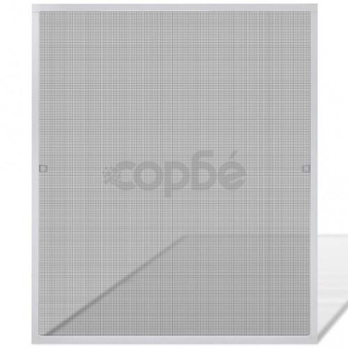 Бял комарник за прозорци 100 x 120 см