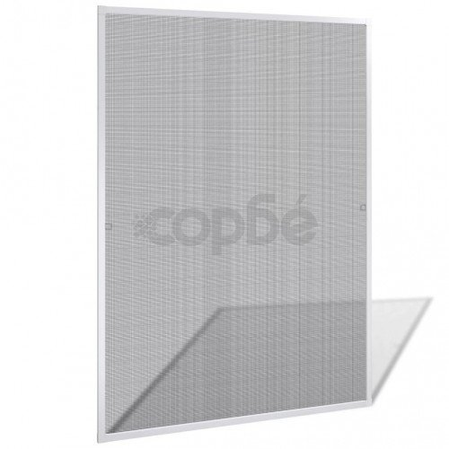 Бял комарник за прозорци 120 x 140 см