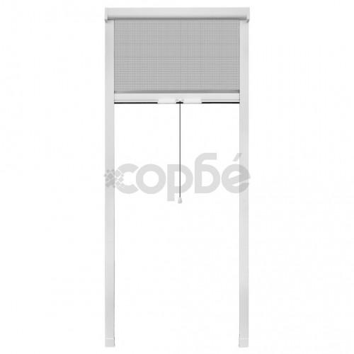 Бял ролетен комарник за прозорци 60 x 150 см