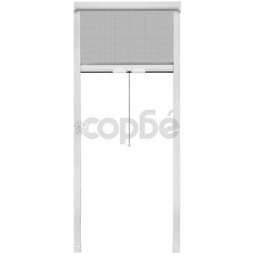 Бял ролетен комарник за прозорци 80 x 170 см