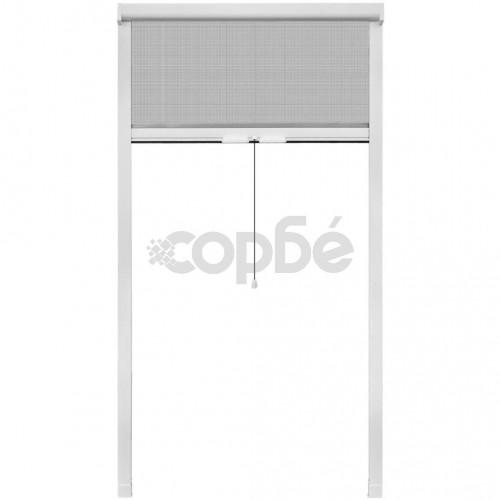 Бял ролетен комарник за прозорци 100 x 170 см