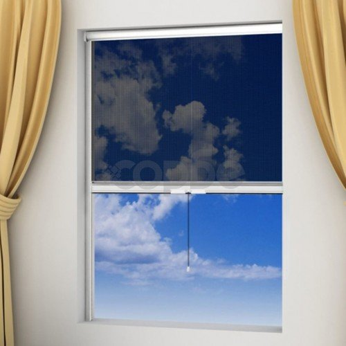 Бял ролетен комарник за прозорци 140 x 170 см