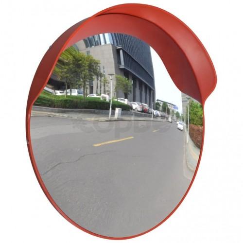 Изпъкнало пътно огледало, PC пластмаса, оранжево, 60 см, улично