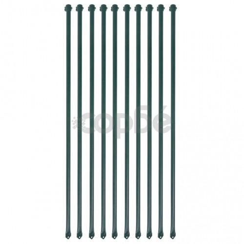 Градински колове, 10 бр, 1 м, метал, зелено