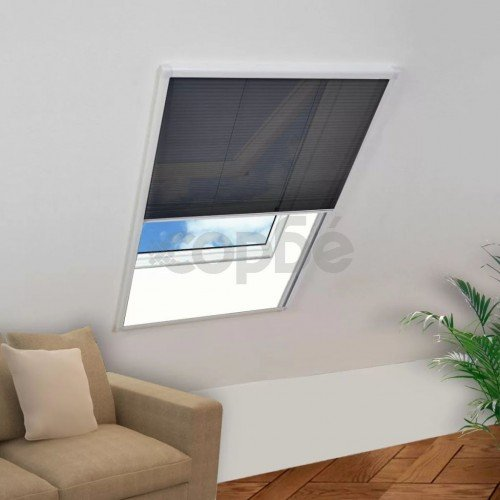 Алуминиев плисе комарник за прозорци, 60x80 см