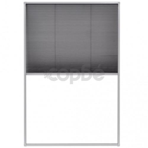 Алуминиев плисе комарник за прозорци, 80x120 см