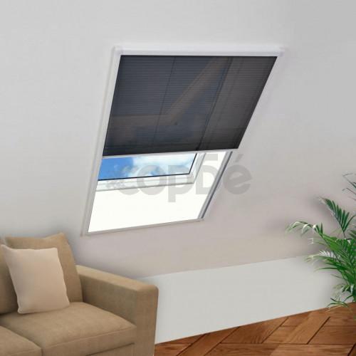 Алуминиев плисе комарник за прозорци, 120x120 см