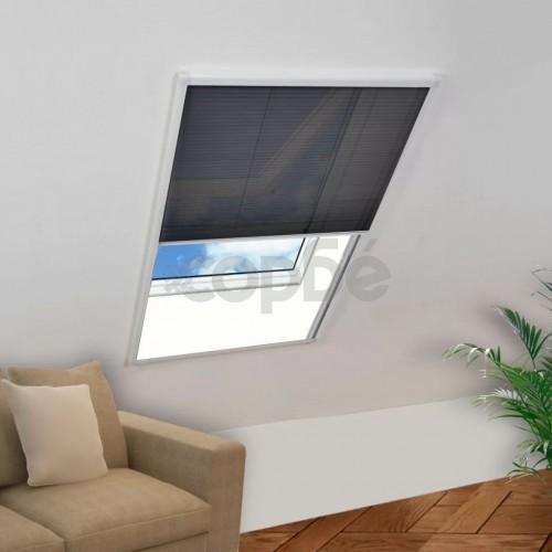 Алуминиев плисе комарник за прозорци, 130x100 см