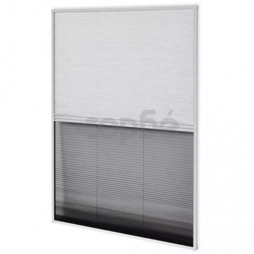 Алуминиев плисе комарник за прозорци със сенник, 80x120 см