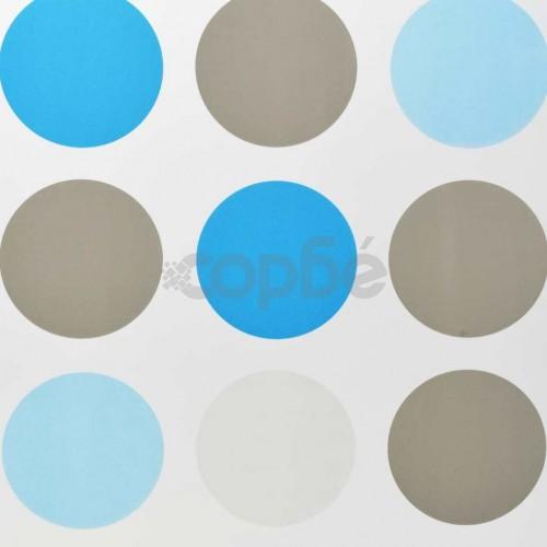 Ролетна щора за баня, 140x240 см, кръгове